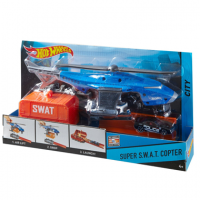 Вертолёт Hot Wheels и одна машинка