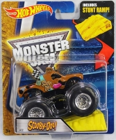 Машинка Hot Wheels Монстр трак Scooby-Doo с рампой Monster Jam
